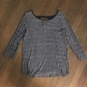 Papermoon for Stitch Fix Blue/gray Top size XL